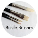 Bristle brushes for oil painting