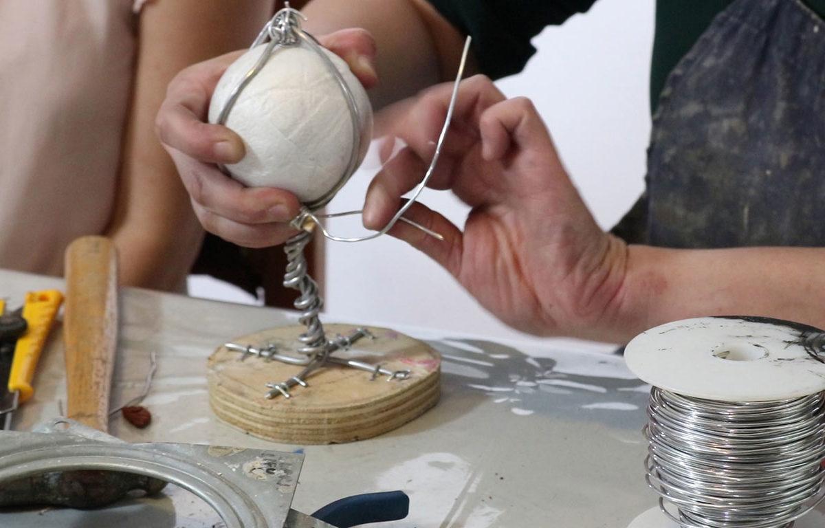 Clay Portrait Sculpture Armature