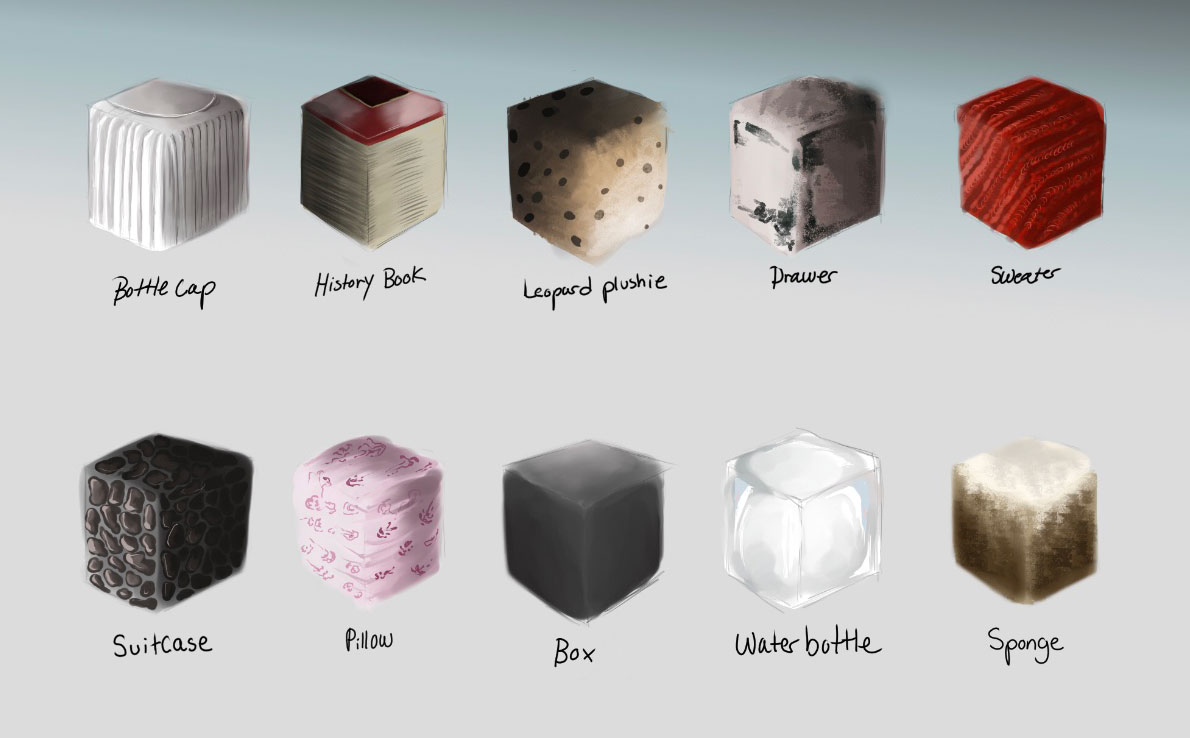 Digital Painting: Texture Cubes