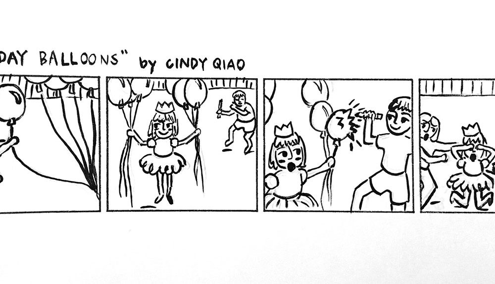 Birthday Party Comic, Cindy Qiao