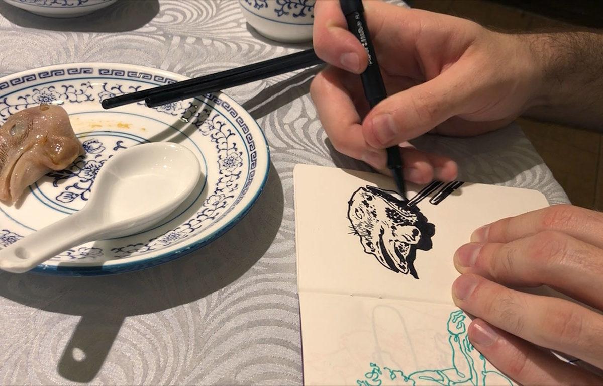 Pen Drawing, Casey Roonan