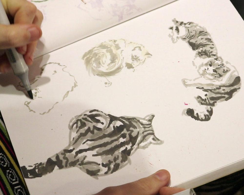 Copic Marker Drawing, Lauryn Welch