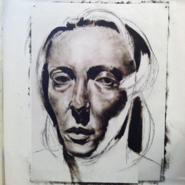 Etching Ink Portrait, Clara Lieu