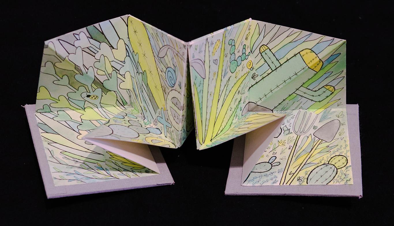 Artist Book with Gouache Paint, Sol Bourdeau