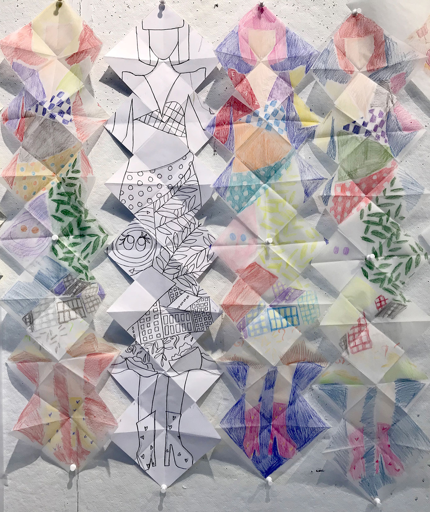 Artist Book Colored Pencil Sketches, Anushka Srinivasan