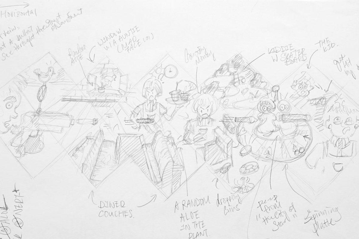 Artist Book Thumbnail Sketches, Roye Zhang