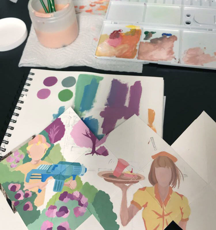 Artist Book with Gouache Paint, Roye Zhang