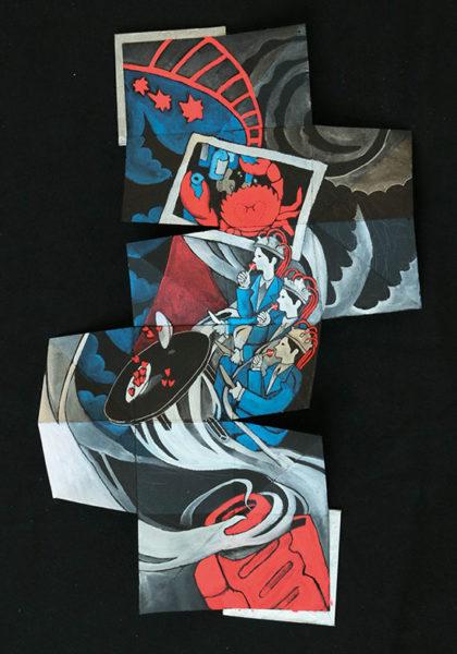 Artist Book with Gouache Paint, Ruyi Xu