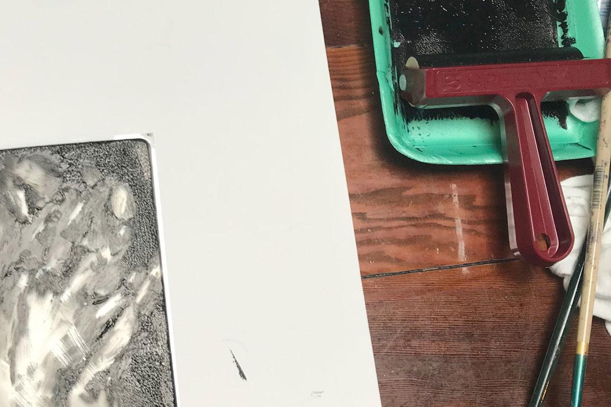 Gel Printing Plate Print, Amelia Rozear