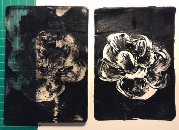 Gel Printing Plate Print, Ruth Lee