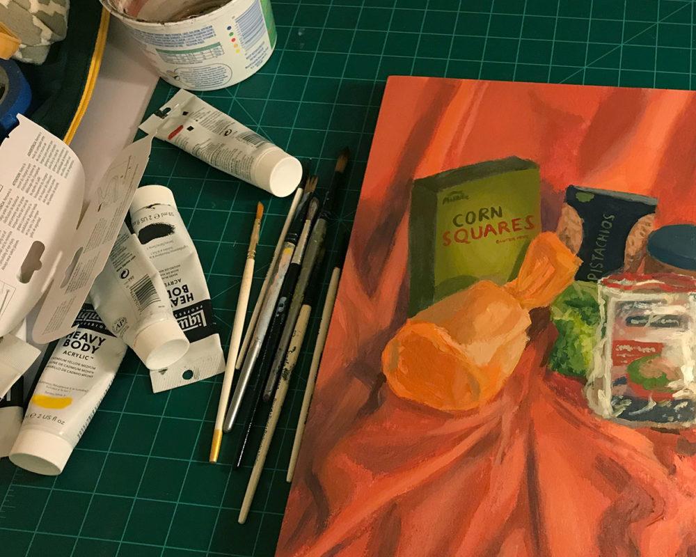 Acrylic Still Life Painting, Julie Sharpe