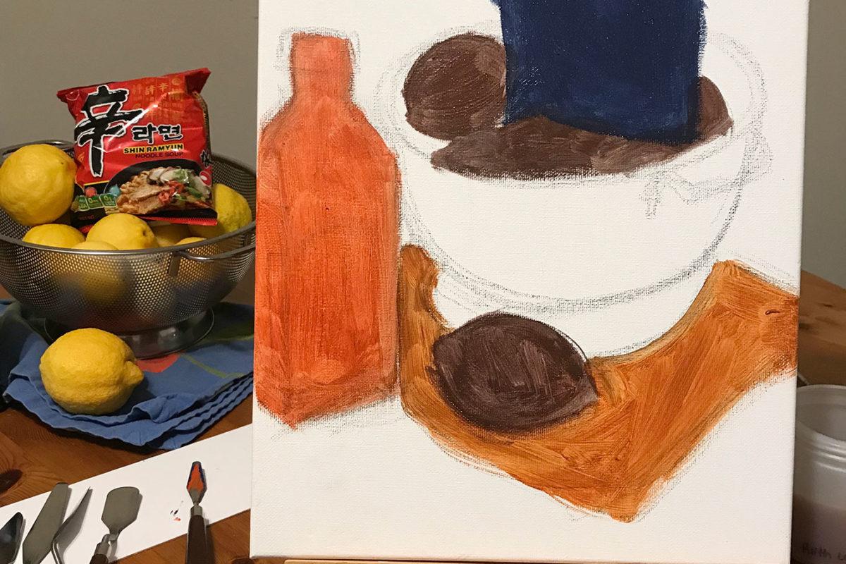 Acrylic Still Life Painting, Ruth Lee