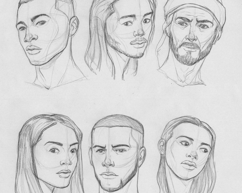 Portrait Drawings in Pencil, Jordan McCracken-Foster