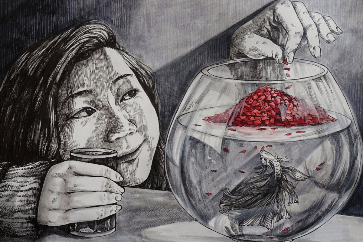 Pen Drawing, Victoria Lin