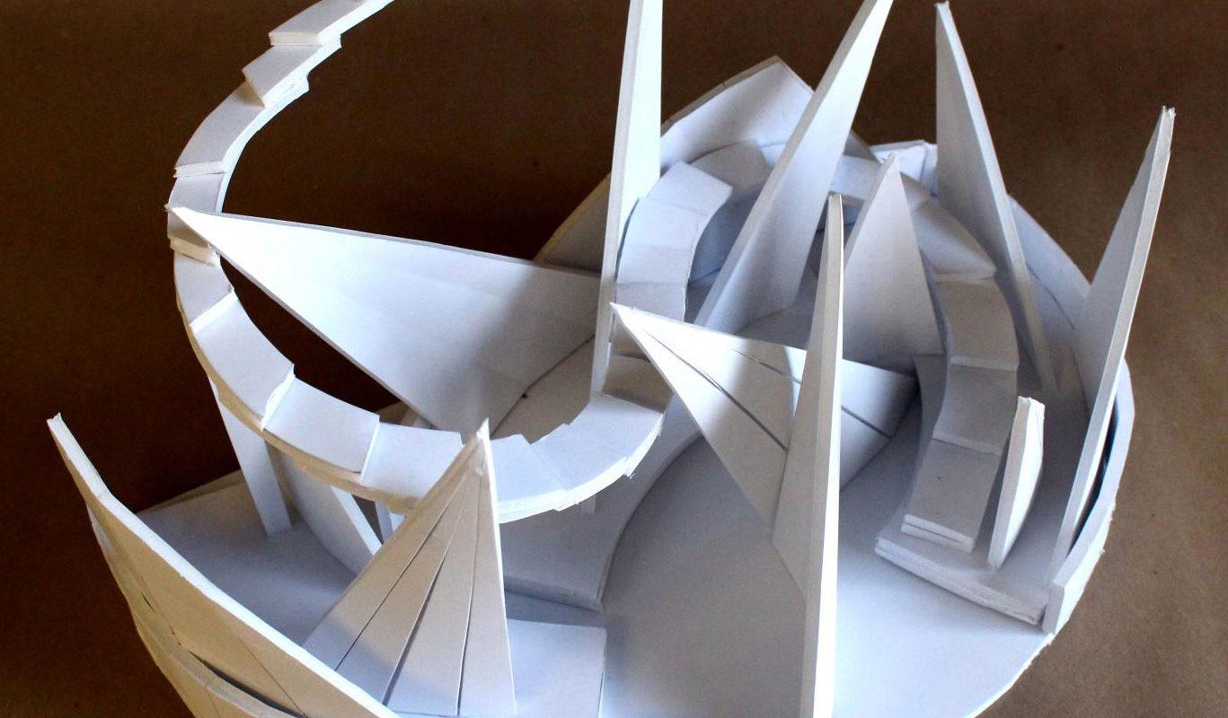 Foam Board Sculpture, Victoria Lin