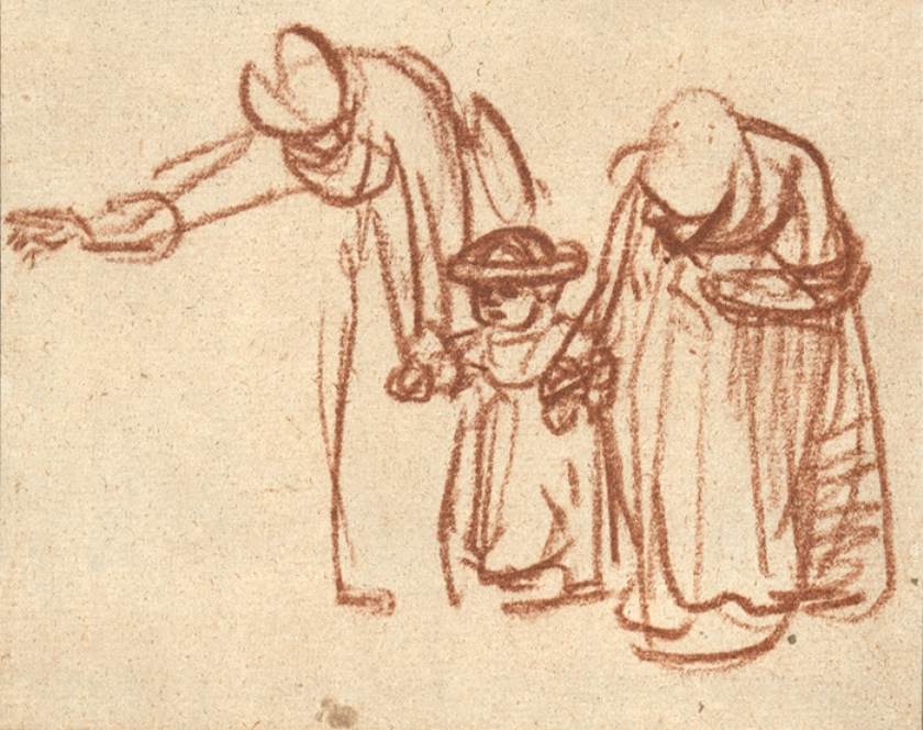Gesture Drawing, Rembrandt