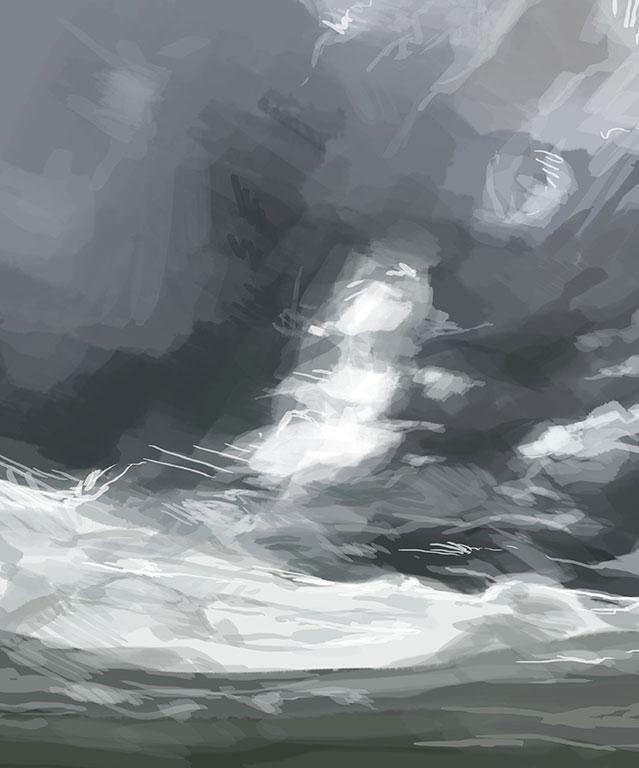 Digital Sky Painting, Amelia Rozear