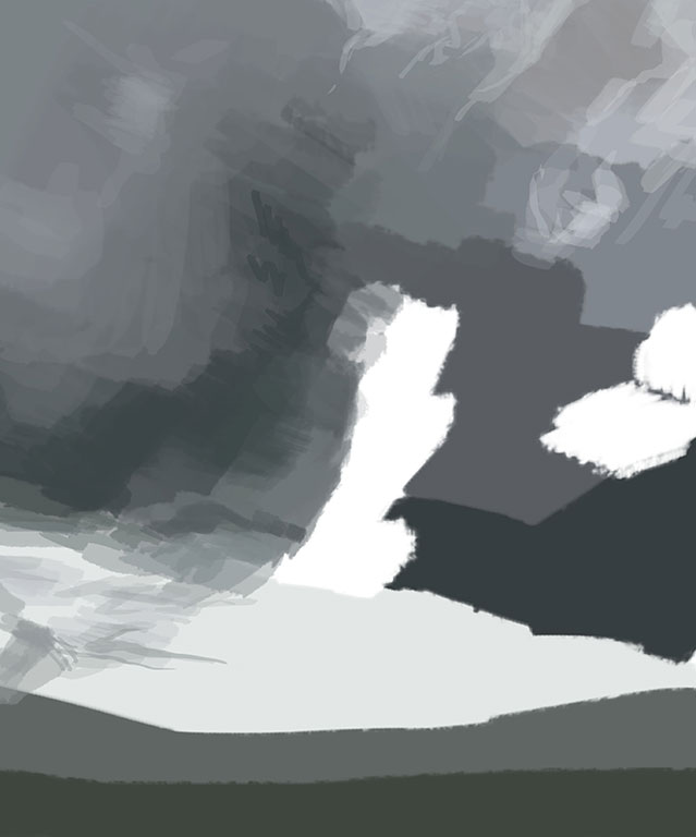 Digital Sky Painting Process, Amelia Rozear