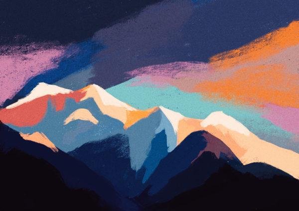 Digital Sky Painting, Rachel Shin