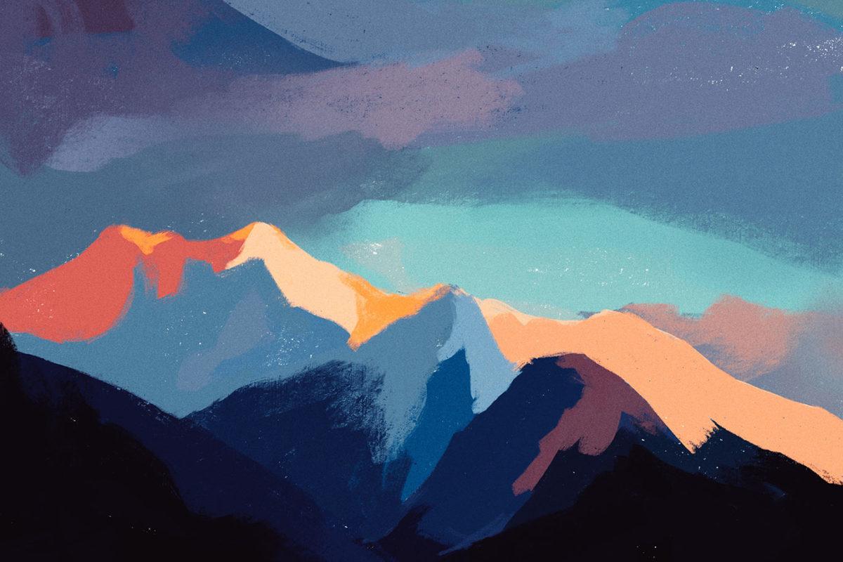 Digital Sky Painting Process, Rachel Shin