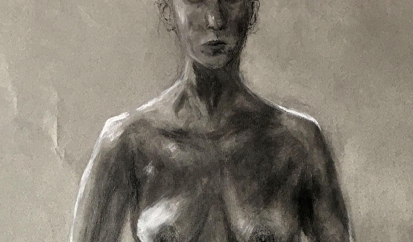 Charcoal Figure Drawing, Clove Alvarado