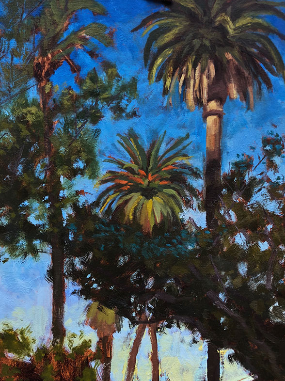 Plein Air Oil Painting, Elise Ton