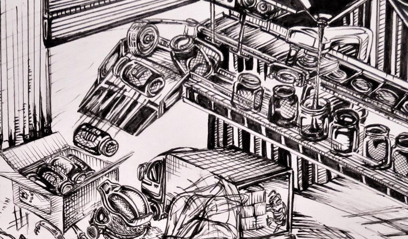 Pen & Ink Illustration, Wenslo Garcia