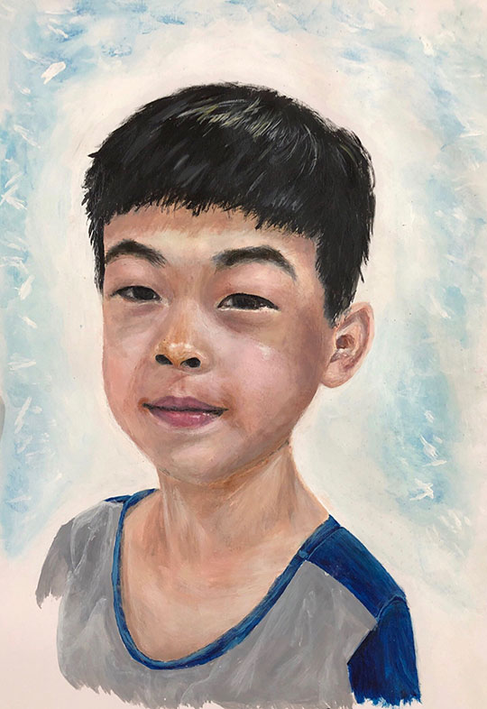 Acrylic Portrait Painting, Sally Li