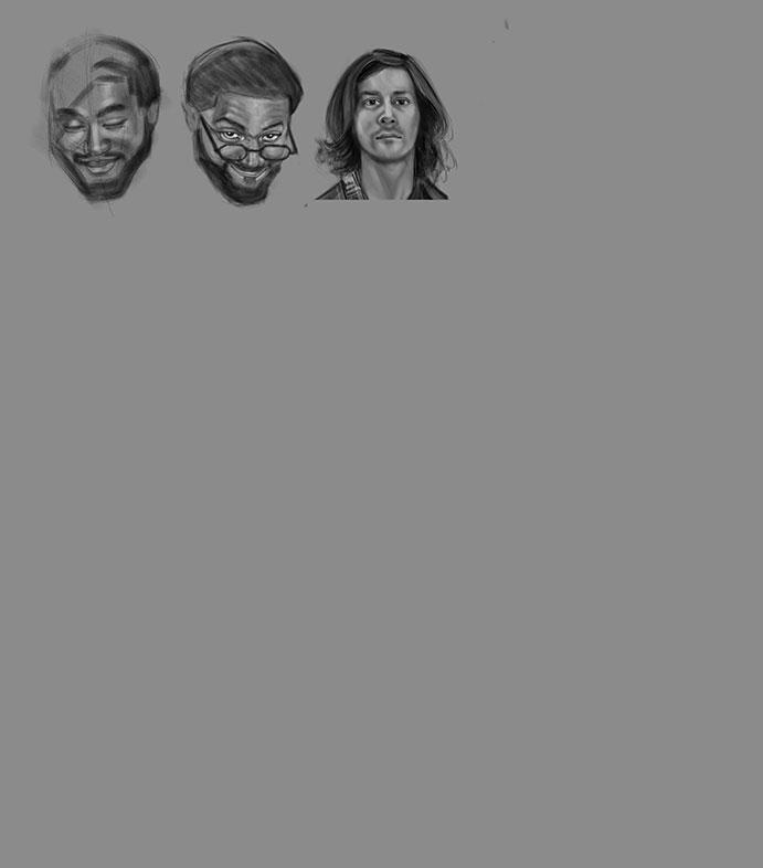 Portrait Drawings, Autodesk Sketchbook and iPad Pro, Joey Myers