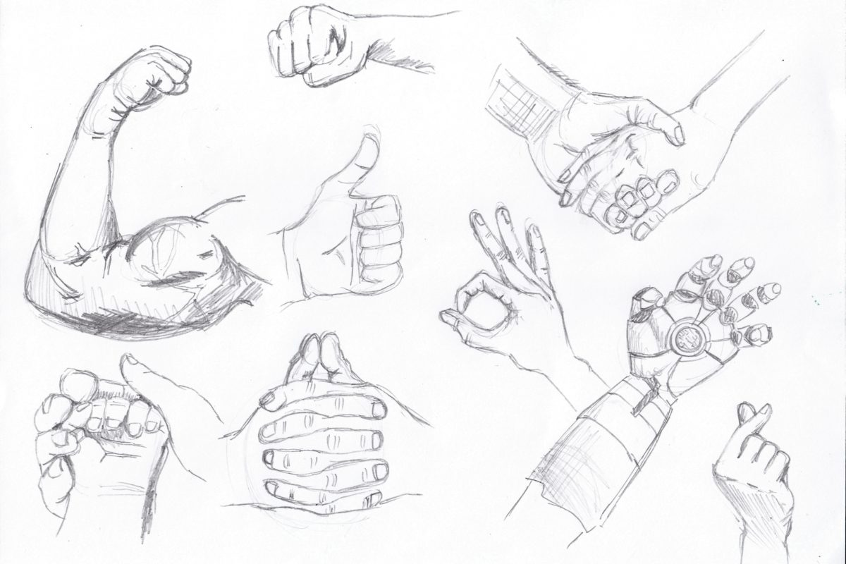 Hand Drawings, Stephanie Dioquino