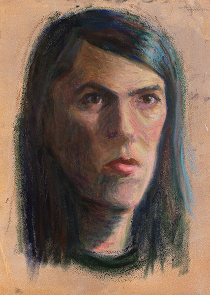 Oil Pastel Portrait Drawing, Jacob Jarvis