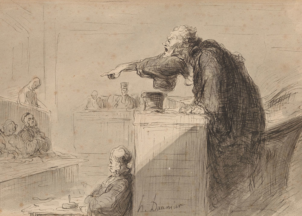 Honore Daumier, Accusation, 1865