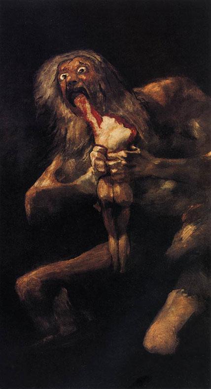 Francisco Goya, Saturn Devouring His Son, 1819