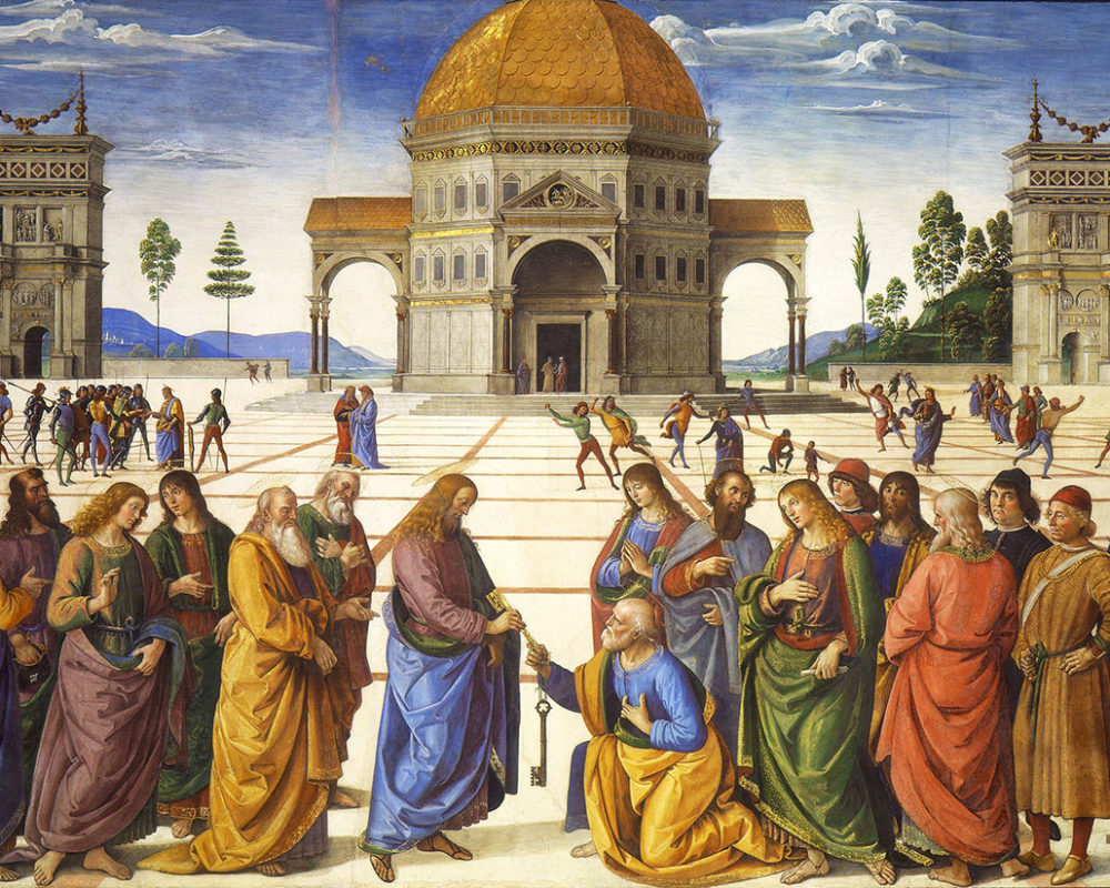 Perugino, Christ Giving the Keys to St. Peter, 1481