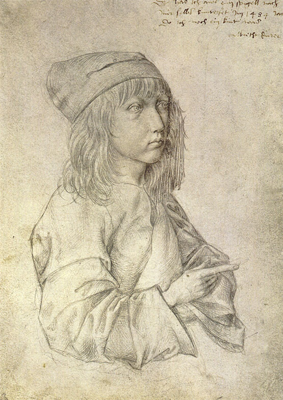 Albrecht Durer, Self Portrait at Age 13, 1484