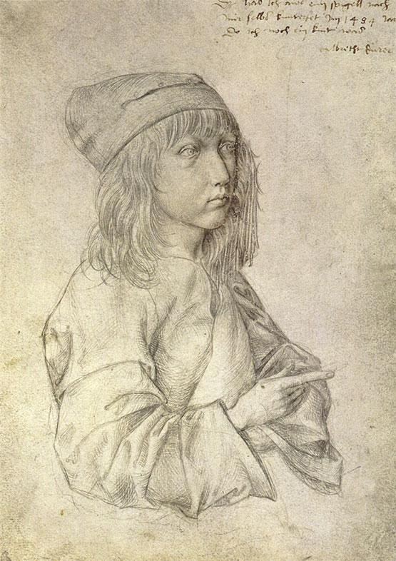 Albrecht Durer, Self Portrait at Age 13, 1484