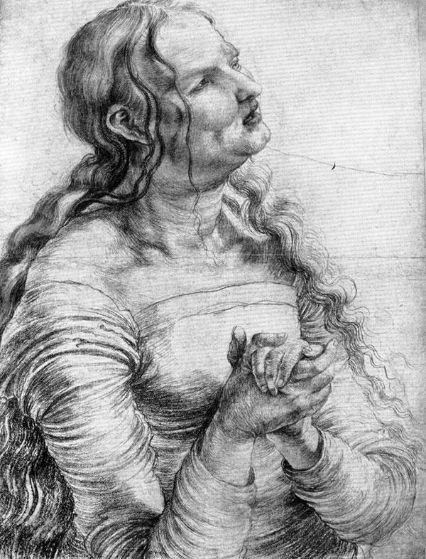 Matthias Grünewald, Woman Mourning, 1515