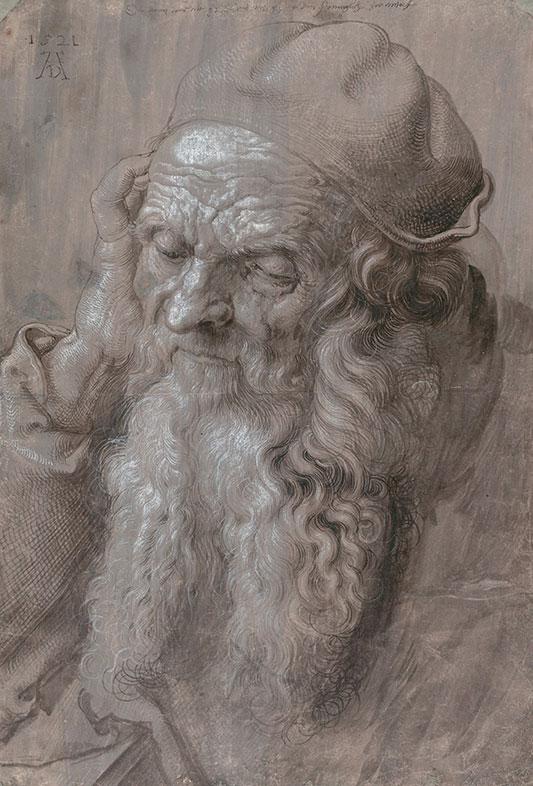 Albrecht Dürer, Head of Old Man, 1521