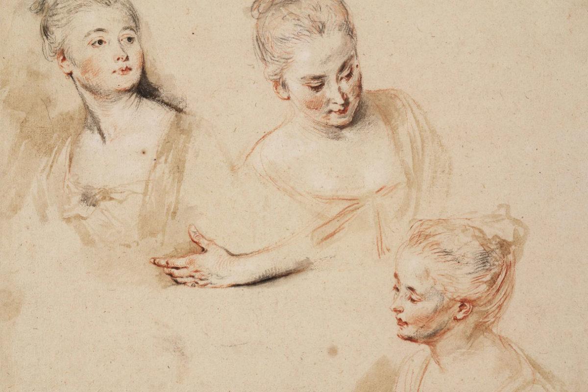 Jean-Antoine Watteau, Portrait Drawings, 18th century
