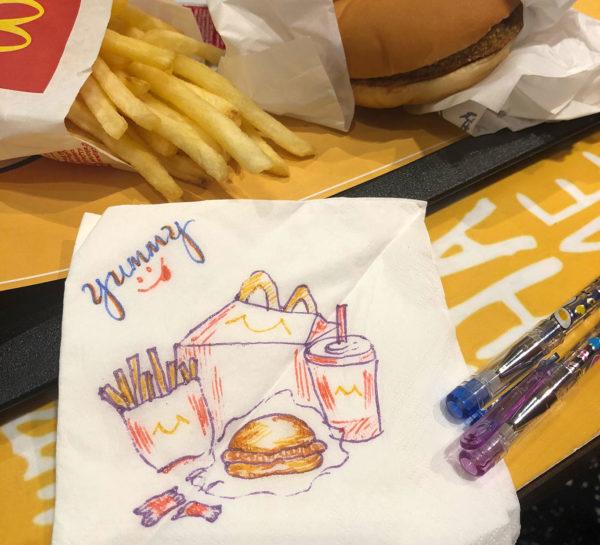 Napkin Drawing, San C