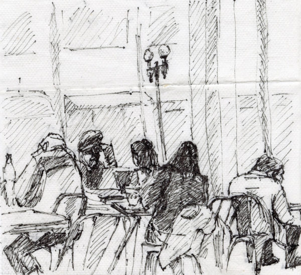 Napkin Drawing, Joan Savitt