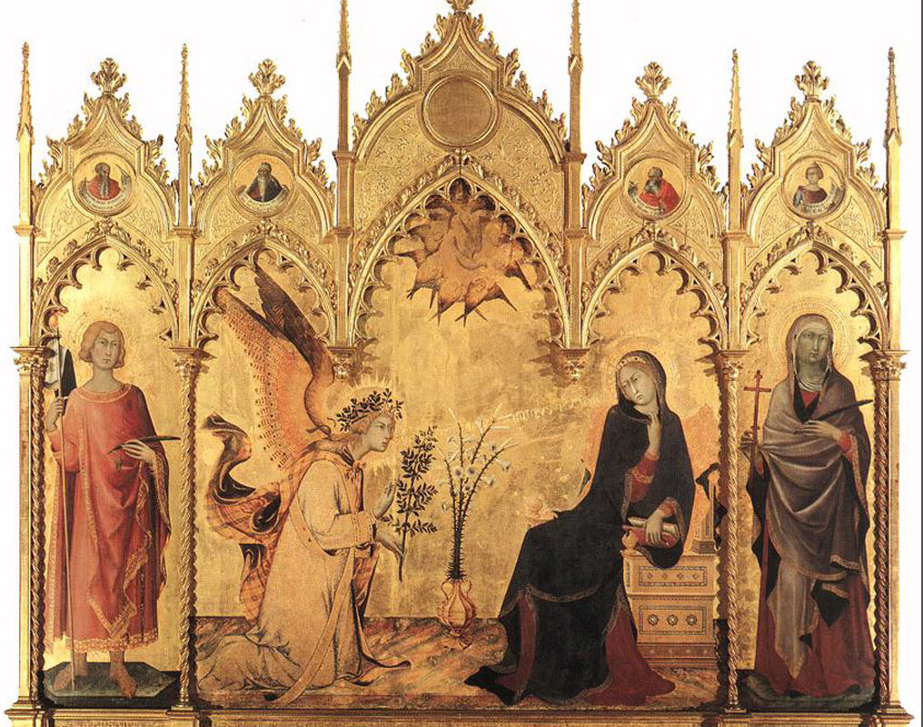 Simone Martin,i The Annunciation and Two Saints, 1333
