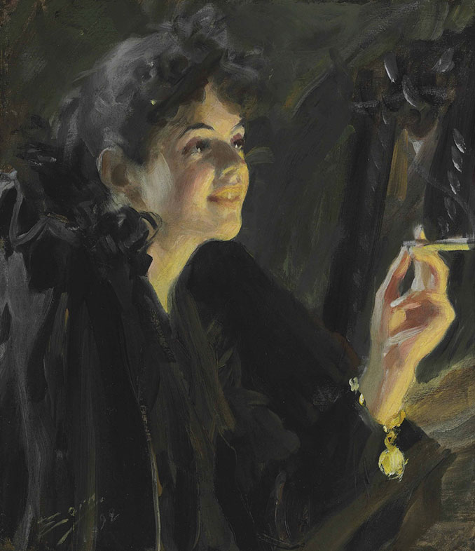 Anders Zorn, The Cigarette Girl, 1860–1920