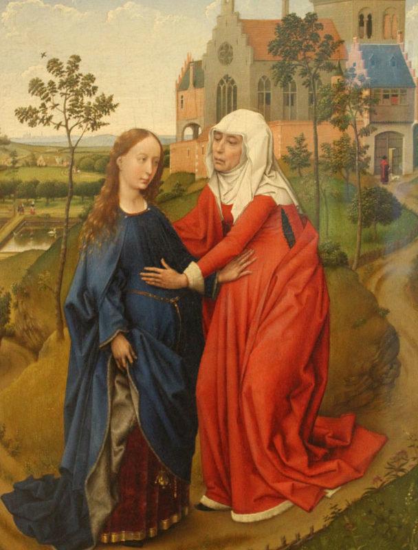 Rogier van der Weyden, Visitation, 1445