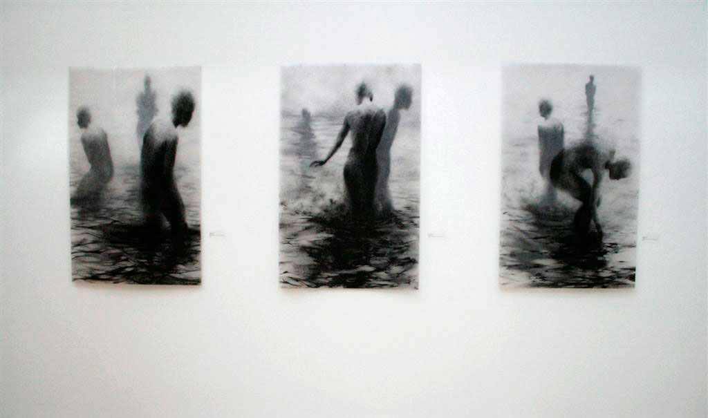 Clara Lieu, Lithographic CrayonDrawings from the Wading Series