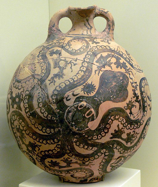 Minoan Octopus Vase from Palaikastro