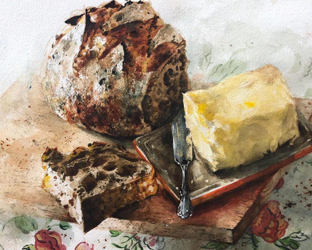 Still Life Watercolor Painting, Clara Lieu