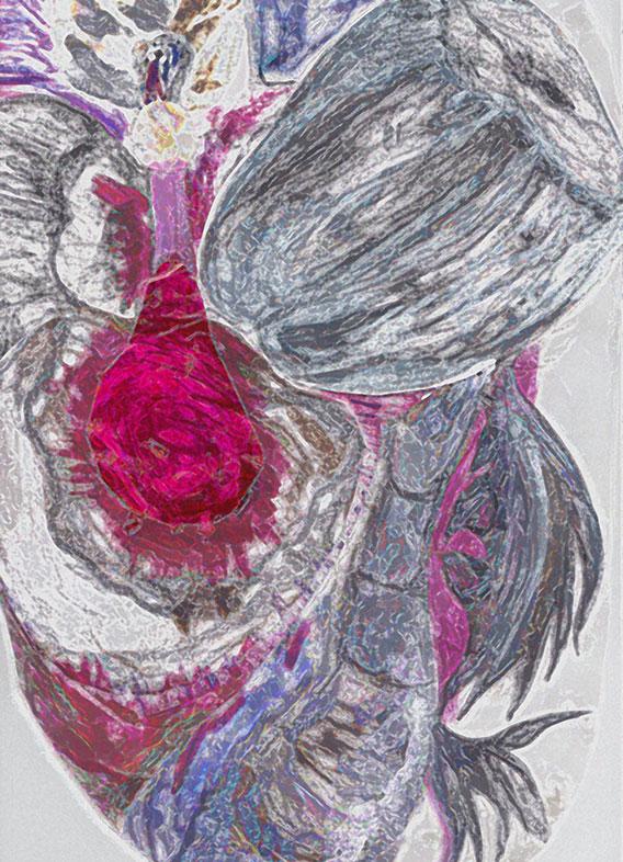 Charcoal, Ink, Digital Media Drawing, Yashwardhan Singh Jadaun