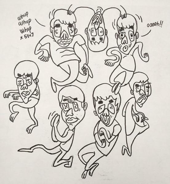 Self-Portrait Cartoon Drawings, Kushal Kishore