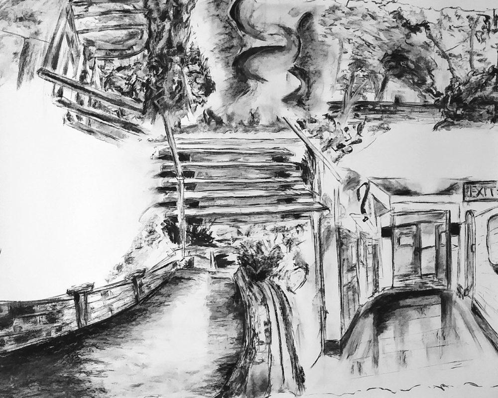 Charcoal Drawing, Darinka Arones